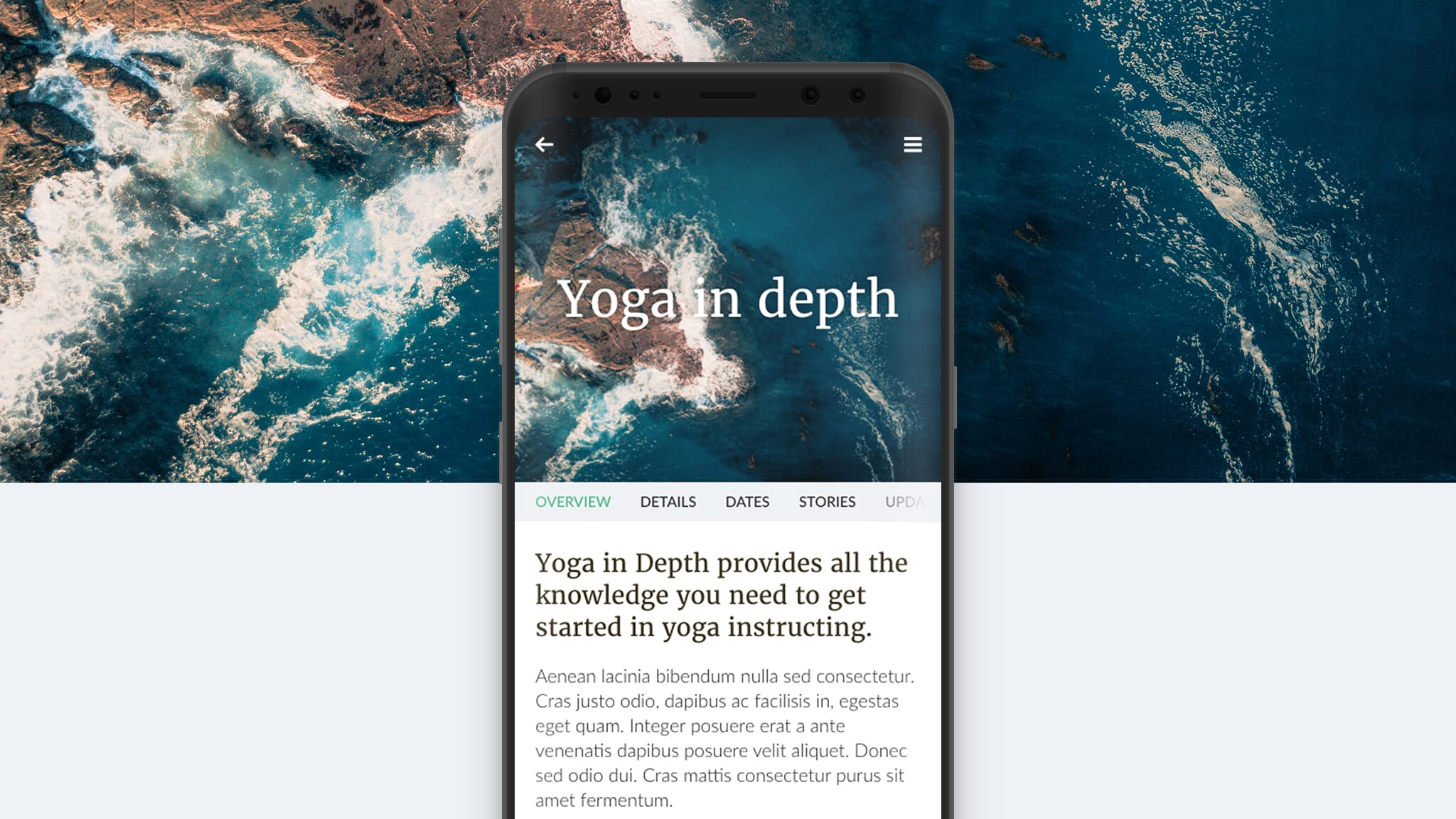 Yoga in Depth mockup
